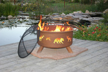 "Patina ""Wildlife"" Outdoor Fire Pit"