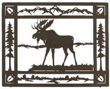 "Moose Sculptures: Lazart ""Moose Meadow"" Metal Wall Art"