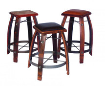 2-Day Designs Stave Stool - Leather Seat