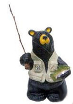 """Winston"" Fly Fishing Bear Big Sky Carvers"
