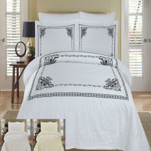 Athena Embroidered Duvet cover Set
