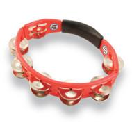 LP Cyclops® Jingle Tambourine, Steel Jingles, Red, Hand Held LP151