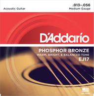 D'Addario EJ17 Phosphor Bronze Medium 13-56 Acoustic Guitar Strings