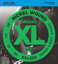 D'Addario EXL220 Nickel Super Light 40-95 Bass Guitar Strings