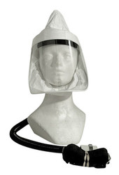 Tyvek facepiece assembly for supplied air systems