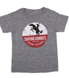 Rarin' to Surf Surfing Cowboys T-Shirt for Children and Youth