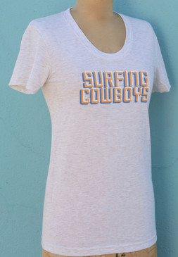 Surfing Cowboys Logo T-Shirt for Women