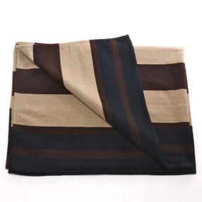 Merino Wool Wide Stripe Chief's Blanket, Handmade
