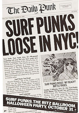 Surf Punks, The Daily Punk Unused Vintage Poster, 1980