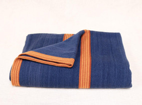 Merino Wool Camp Blanket, Blue and Gold