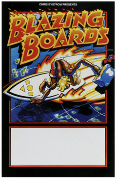 """Blazing Boards"" Original Vintage Surf Poster, 1970s"