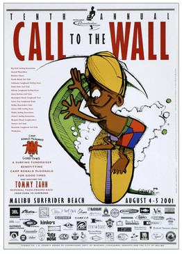 Malibu California Surf Competition Poster CALL TO THE WALL  2001