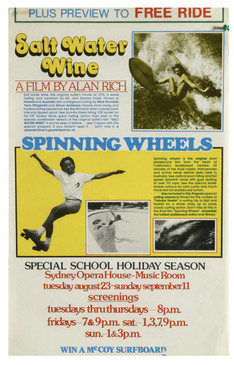 Surf and Skate Film, Australia 1970s, Salt Water Wine and Spinning Wheels