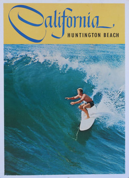 Huntington Beach California Surf Poster