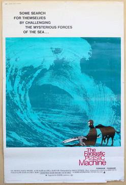 The Plastic Fantastic Machine 1960s OVERSIZE 4-SHEET Surf Movie Poster
