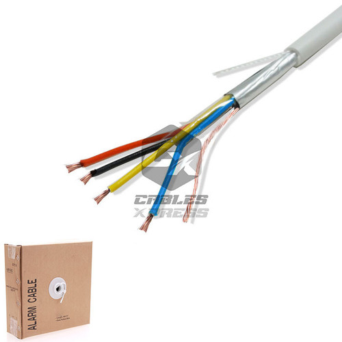 Security Wire Burglar Alarm 22/4 Cable 500FT Stranded Conductor Shielded White