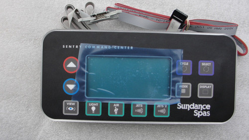 6600-803 Sundance Spa Side Control, 800,850 Series, 2 Pump System w/Remote Cable