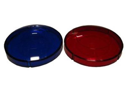 6560-264 Red and Blue Light Lens Set 3 1/4 inch inner diameter