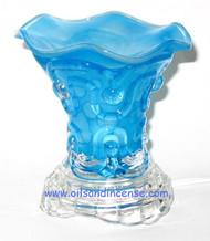 Solid Color Glass Electric Oil Burner - Blue