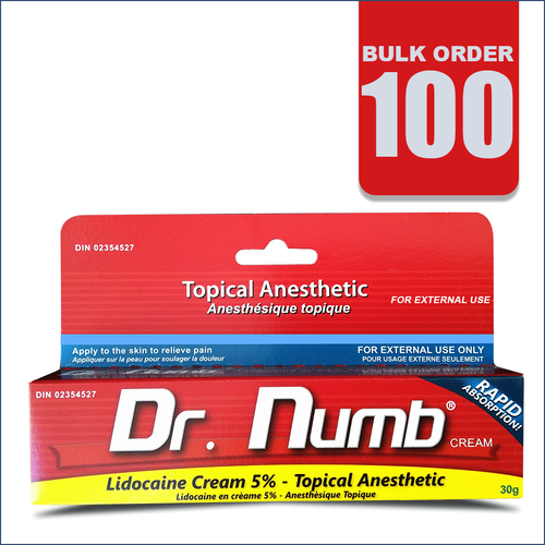 BULK ORDER: 100 Tubes of Dr. Numb [FREE SHIPPING Worldwide]