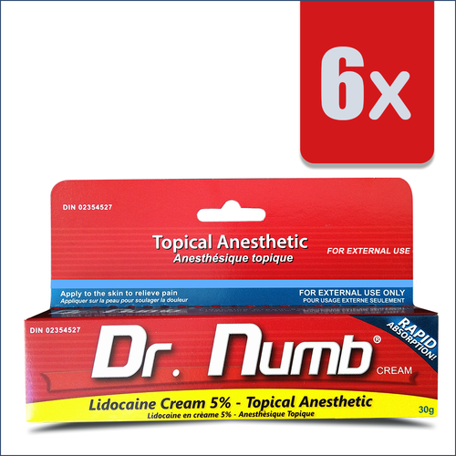 3 Tubes of Dr. Numb + 3 Extra Tubes FREE