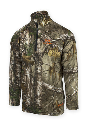 Chrome Realtree 1/4 Zip Pullover