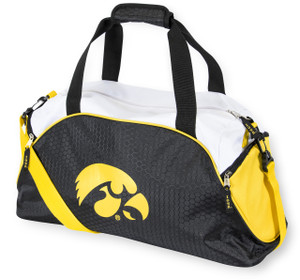 Iowa Hawkeyes Black & Gold Duffel Bag - Impact
