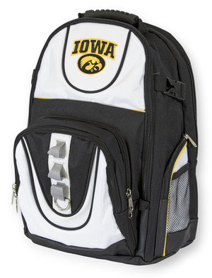 Iowa Hawkeyes Black & White Backpack - Deluxe