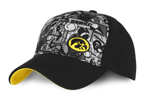 Iowa Hawkeyes Comic Pattern Youth Cap - Comic