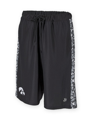 Iowa Hawkeyes Black & White Camo Shorts - Dillard