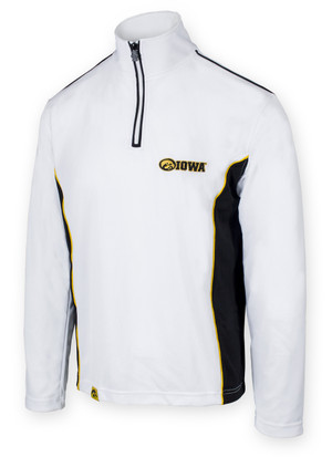 Iowa Hawkeyes Black & White Performance Men's Shirt - Chrome
