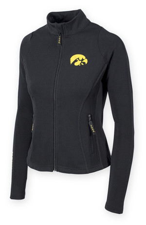 Iowa Hawkeyes Women's Black Jacket - Bowman