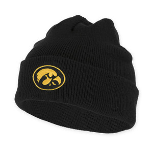 Iowa Hawkeyes Black ANF Beanie - Adair