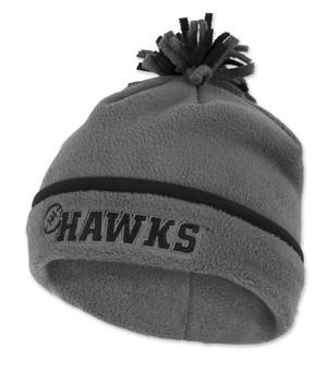 Iowa Hawkeyes Black & Grey Fleece Youth Beanie - Jonathan