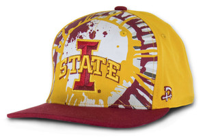 Iowa State Cardinal & Gold Hip Hop Cap - Splash