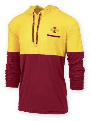 Iowa State Cardinal & Gold Hooded Shirt - Sprint