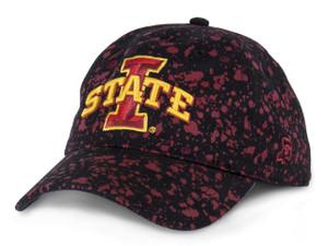 Iowa State Black & Cardinal Splatter Pattern Cap - Splatter