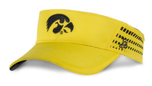 Iowa Hawkeyes Men's Black and Gold Visor - Christian