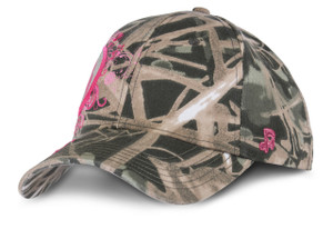 Iowa Hawkeyes Camo with Glitter Logos Cap - Ava