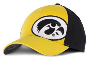 Iowa Hawkeyes Black & Gold Fitted Youth Cap - Daniel