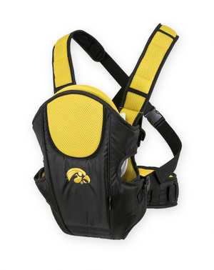 Iowa Hawkeyes Black & Gold Baby Carrier - Huey