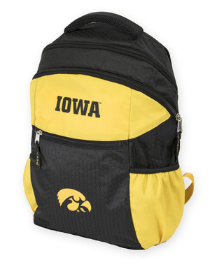 Iowa Hawkeyes Black & Gold Youth Backpack - Hayden