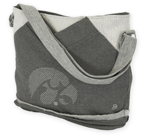 Iowa Hawkeyes Grey, French Terry Tote Bag - Hannah
