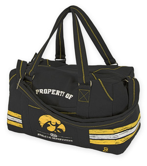 Iowa Hawkeyes Black Sweatshirt Duffel Bag - Garret