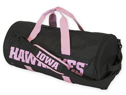 Iowa Hawkeyes Duffel Bag Black Amp Pink Authentic Brand
