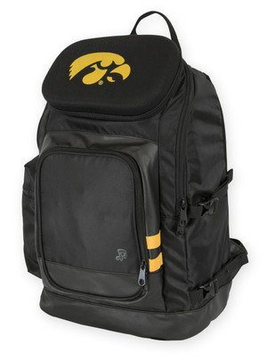 Iowa Hawkeyes Black Hard Shell Backpack - Gavin