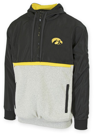 Iowa Hawkeyes Black and Gold Windbreaker - Cole