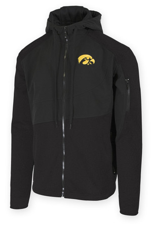 Iowa Hawkeyes Black Polar Fleece Jacket - Ben