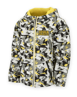 Iowa Hawkeyes Black & Gold Pattern Youth Jacket - Connor