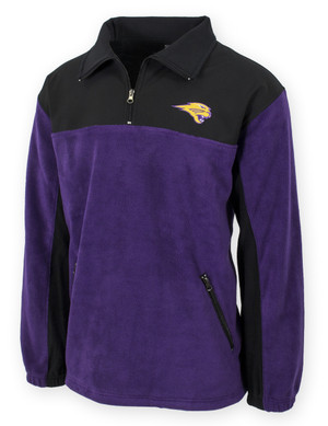 UNI Panthers Purple & Black Fleece Jacket - Porter